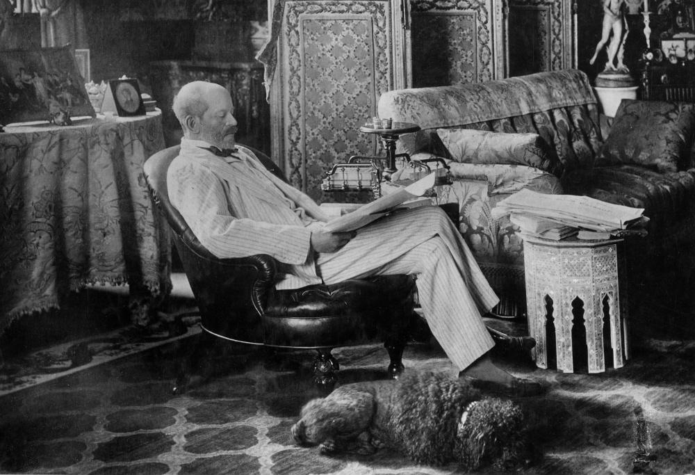 Baron Ferdinand in his study