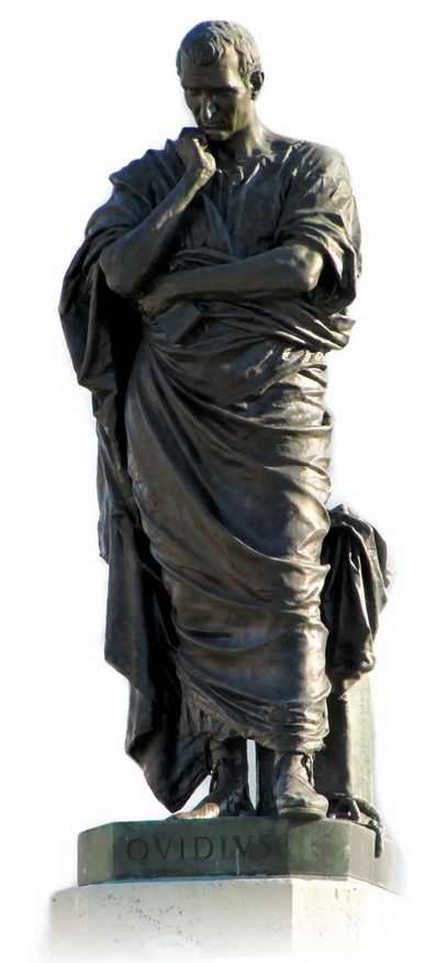 Romanian Statue of Ovid in Constanta (Photo: Wikipedia by Romeo Tabus)