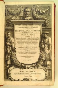 The frontispiece to an illustrated 1644 edition of Historia Plantarum by the ancient Greek scholar Theophrastus (Photo: Wikipedia)
