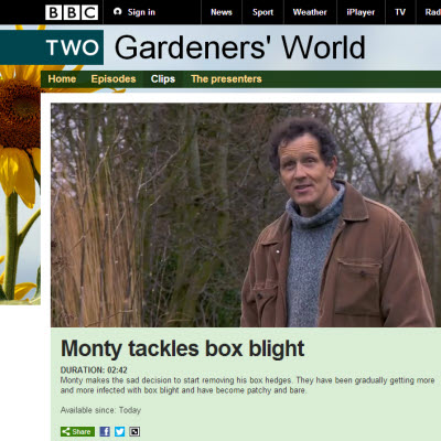 BBC Gardeners World Box Blight