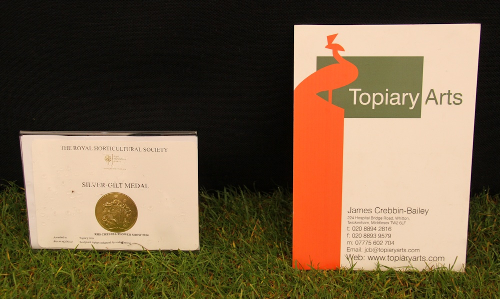 Another medal for Topiary Arts at the RHS Chelsea Flower Show – UPDATE 2