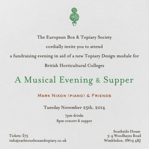 A Fund Raising Musical Evening & Supper