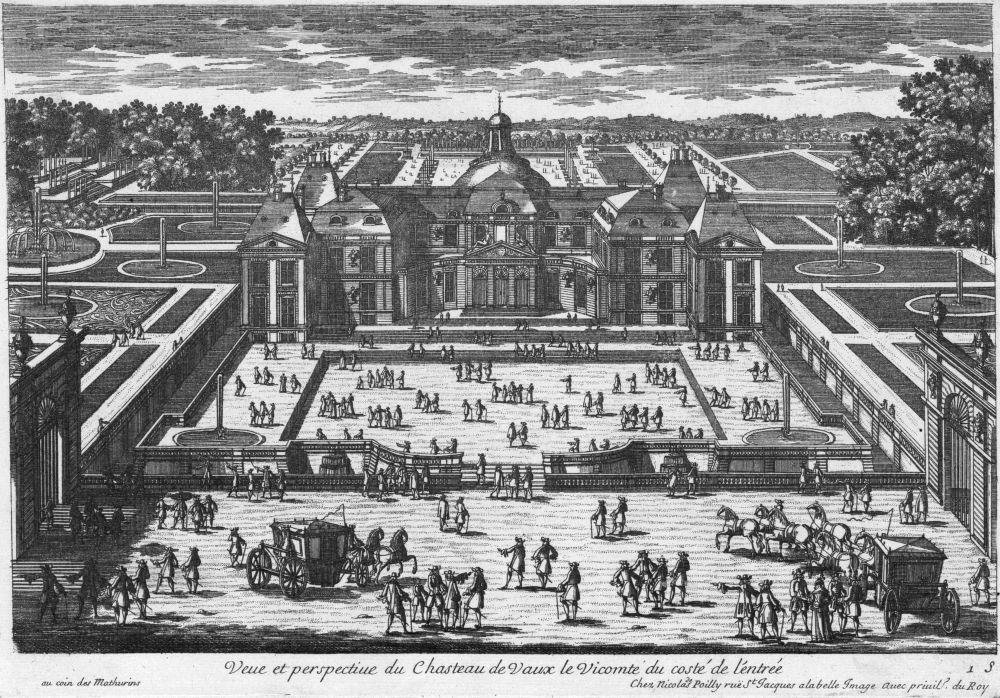 Perspective view of Vaux-le-Vicomte