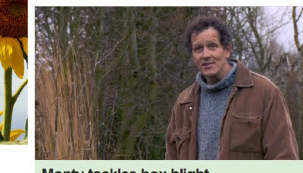 BBC Gardeners World Box Blight