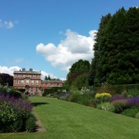 20150704 Newby Hall border looking up towards the house