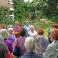 20150705 The Old Vicarage Biddy Marshall explains the history of the house and garden
