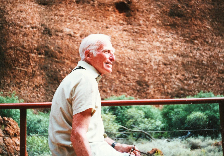 Mark Braimbridge at Ayres Rock