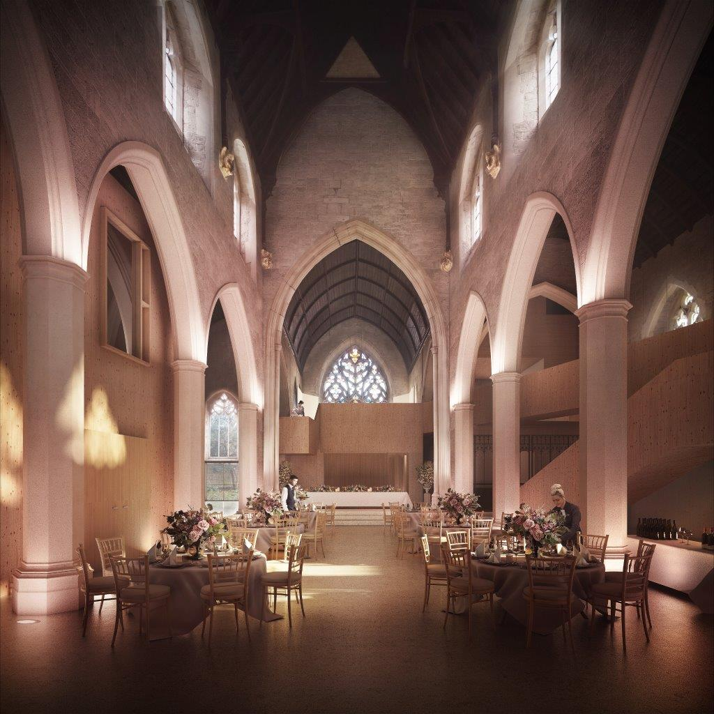 Artists impression of the newly refurbished nave of the Garden Museum will the venue for this years meeting