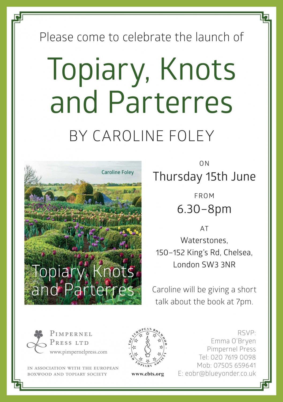 'Topiary Knots & Parterres' Launch @ Waterstones