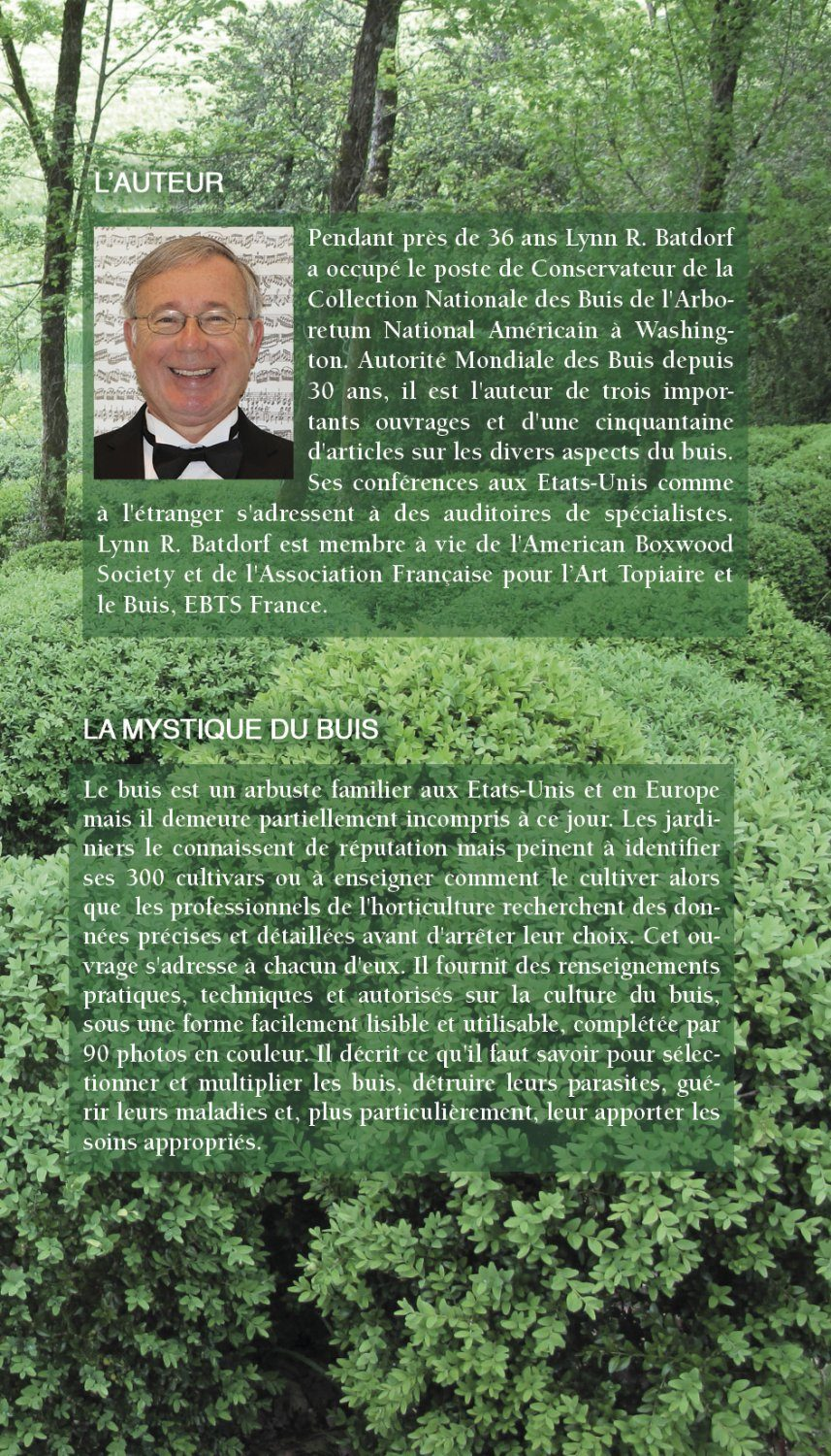 Le Manuel Du Buis – New – The Boxwood Manual in French (4th Edition)
