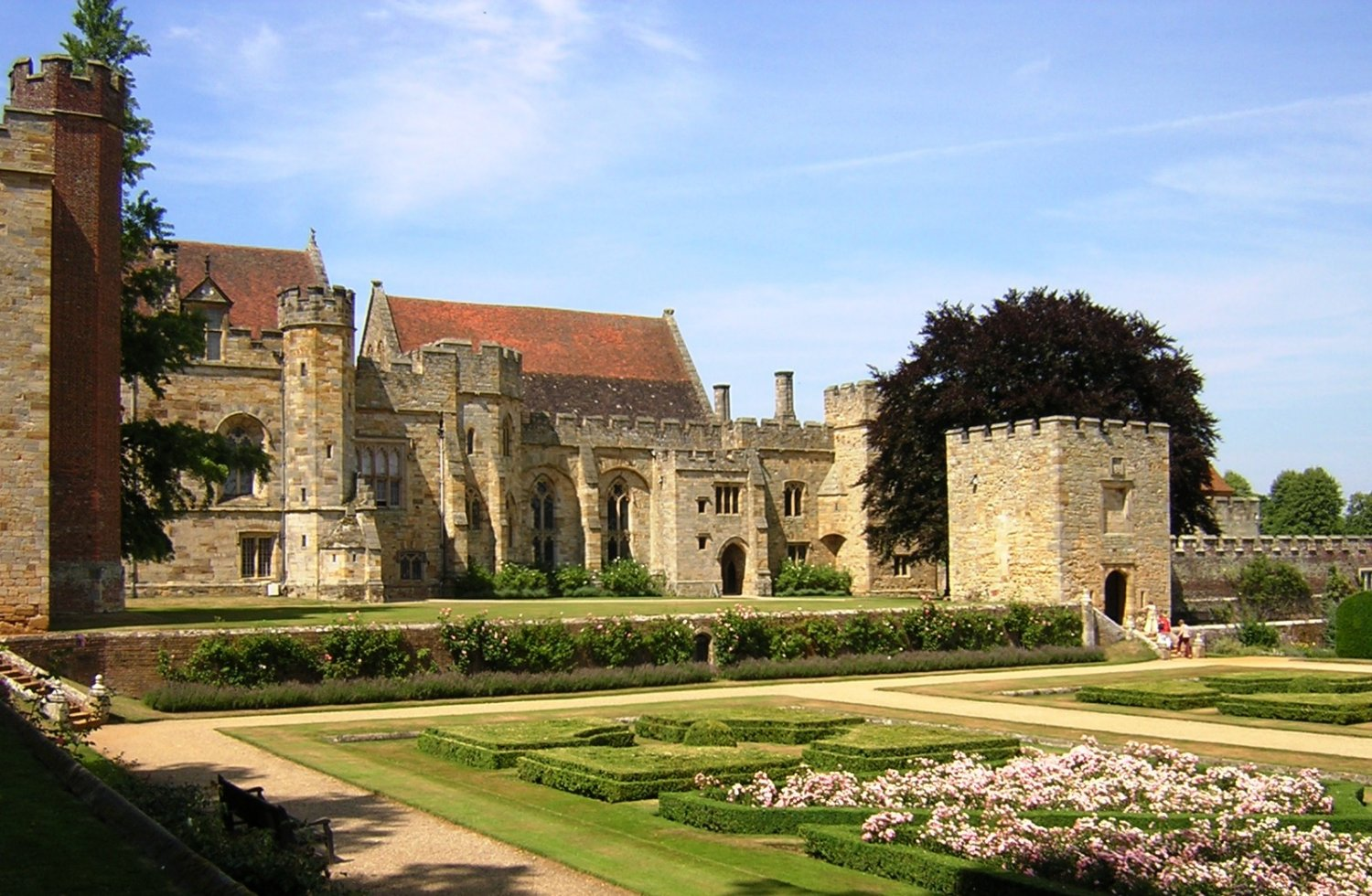 View from church terrace to south front Penshurst Place (c) Leo Creed