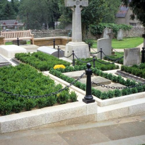 Bladon - Winston Churchill is buried in the Churchill family plot at St Martin Church Bladon Oxfordshire England - 2