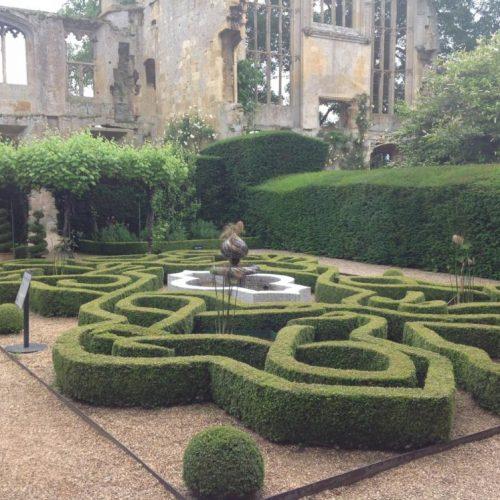 Sudeley Castle - Gloucestershire- UK - June 2014 - Boxwood (Buxus sempervirens) parterre