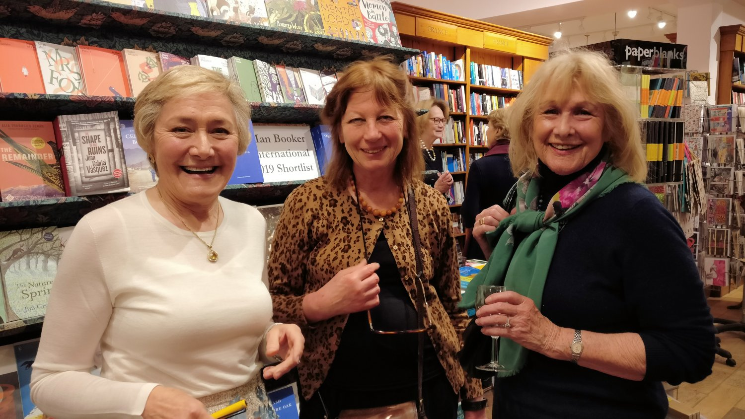 Griselda Kerr author of 'The Apprehensive Gardener', Caroline Foley Topiarius Editor and Annette Balfour Lynn who is reviewing the book for EBTS.