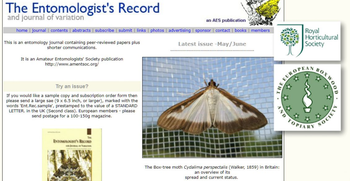The Entomologists Record HL