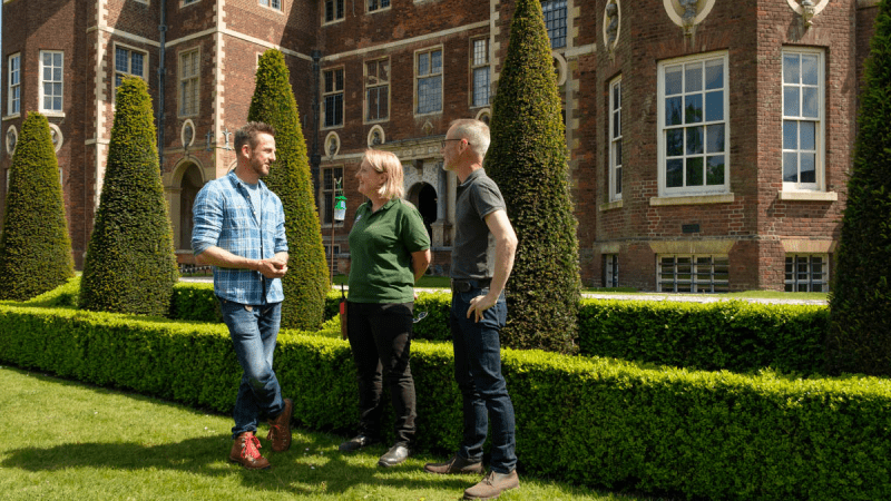 BBC Gardeners World filming at Ham House HL