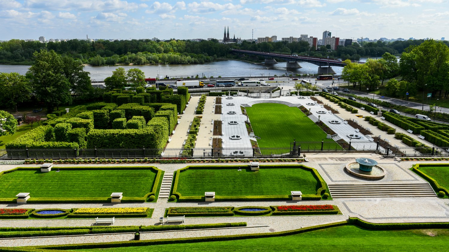 View of the gardens from the Royal Castle by Marcin Kmiecinski