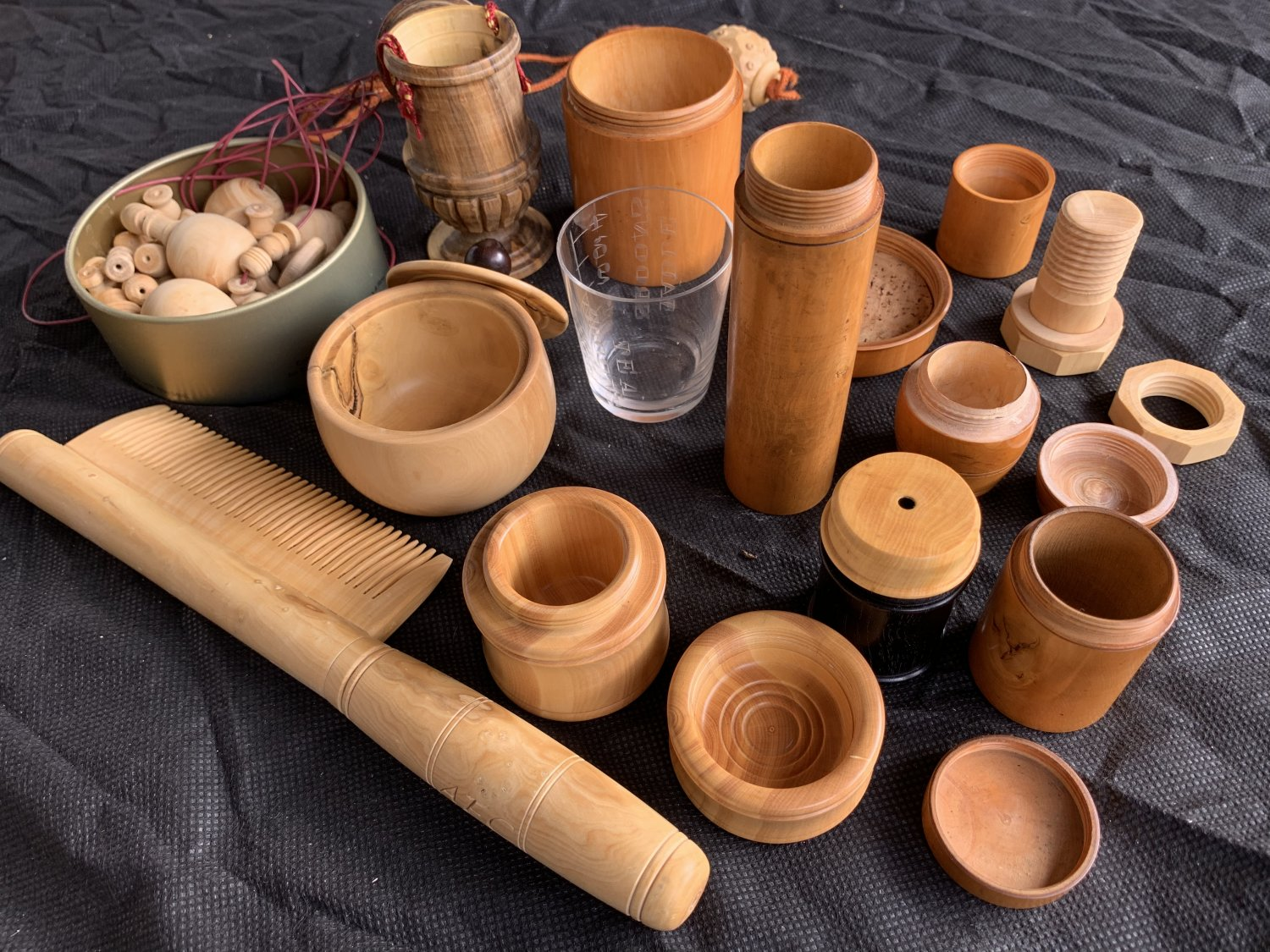 Pots, combs and beads