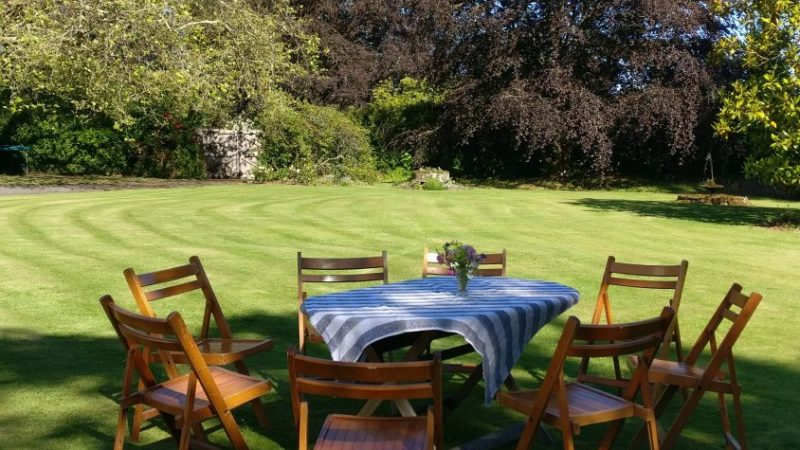Teas on the lawn of Marwood House
