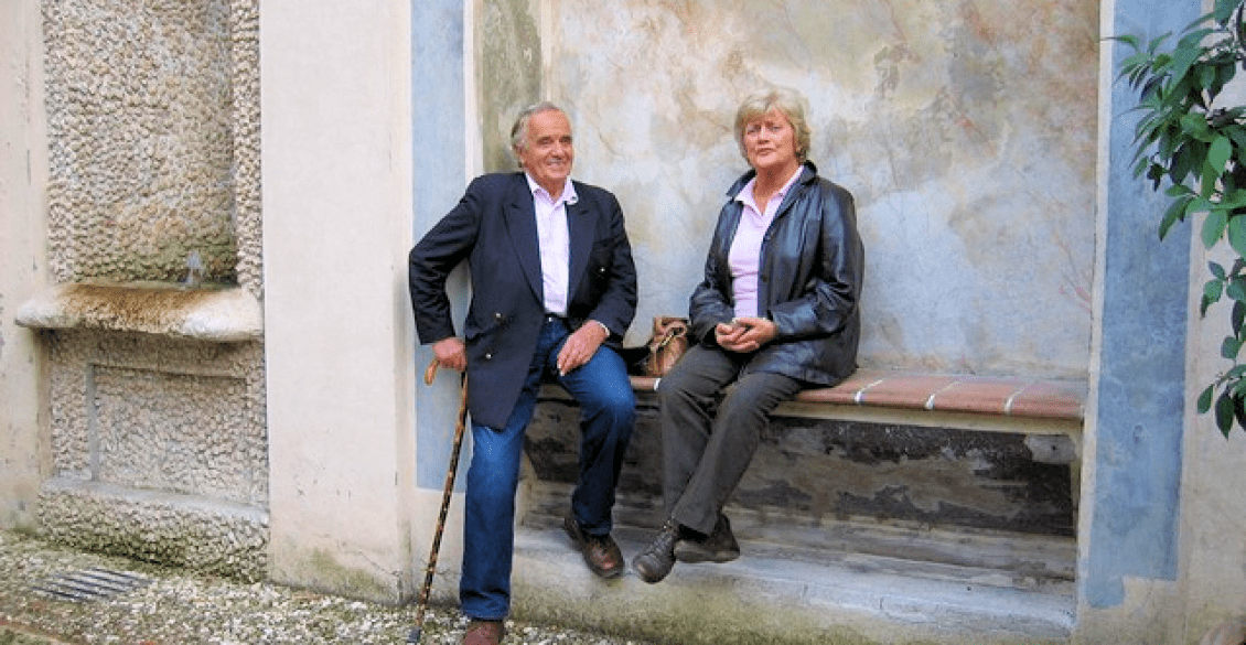 Philip & Barbara Stockitt on an EBTS trip to Italy