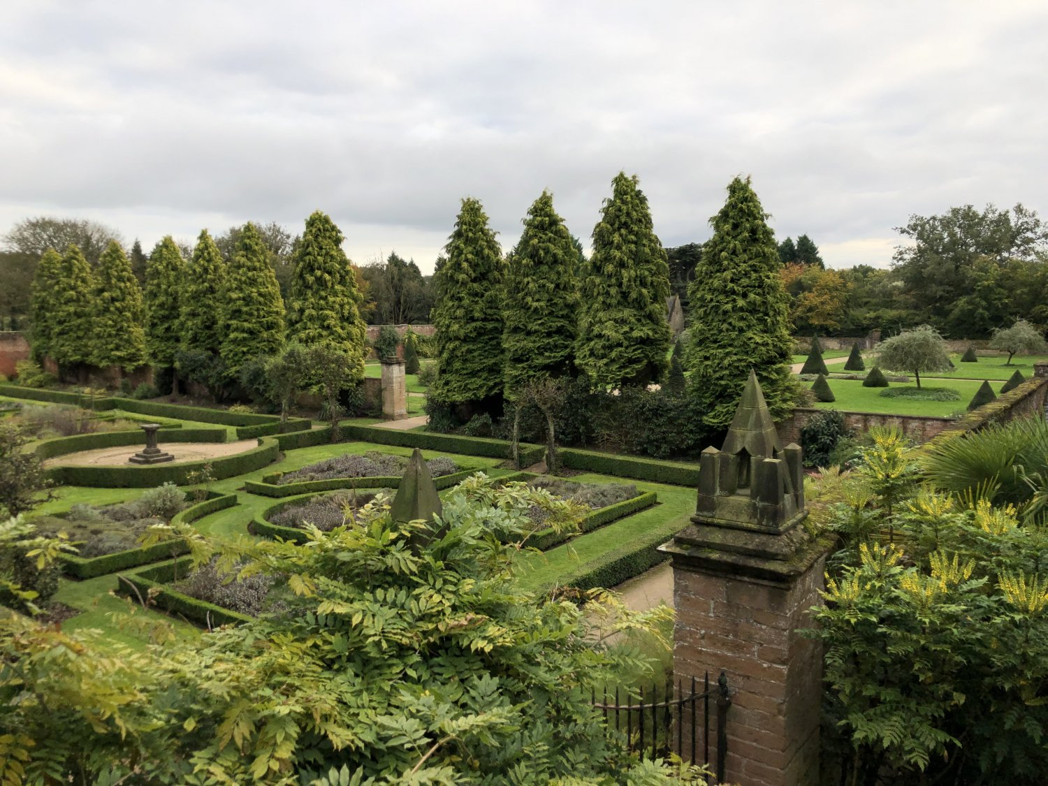 The Small Walled Garden Buxus Parterre & the the reshaping of Cones in the Large Walled Garden over the last two years