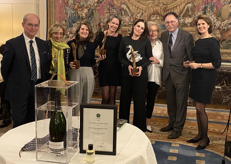 De gauche à droite Patrick Masure – Christine Ternynck – Chantal Mirabaud – Suzanne Meyer – Valérie Esnault – Jeanne Panier – Hubert de Cerval – Patricia Bouchenot-Déchin