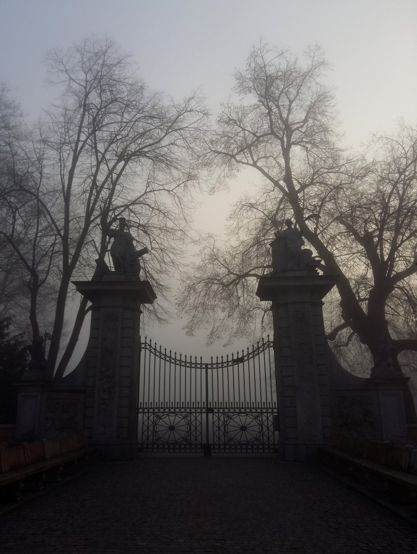 The locked main 17th century gate